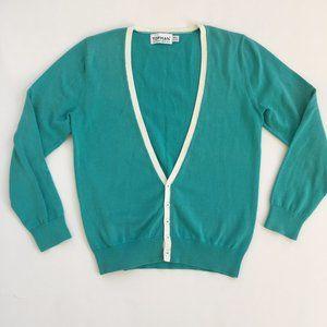 Turquoise Topman Cardigan Sweater